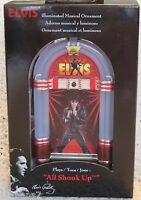 Elvis Illuminated Musical Christmas Ornament Jukebox all Shook Up