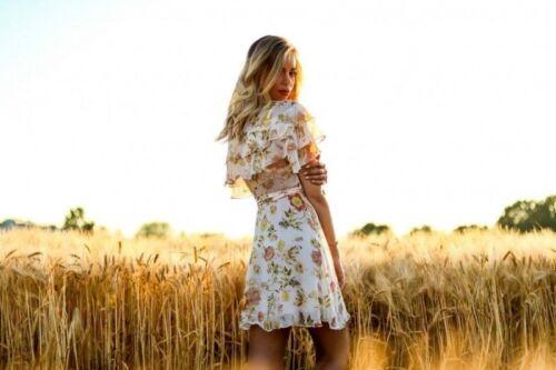 ZARA FLOWING FLORAL PRINTED SHORT WRAP DRESS MINIKLEID KLEID BLUMENPRINT GÜRTEL