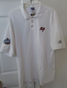 08937c89 Details about NFL Tampa Bay Buccaneers Golf Polo Shirt by Reebok XL White  Super Bowl XXVI