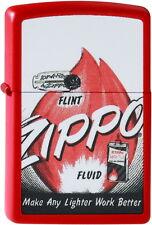 ZIPPO Feuerzeug FLINT N FUEL Red matte Zippo Flamme NEU OVP Sammlerstück!!