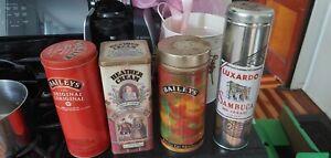Empty-Tins-Baileys-Sambuca-Heather-Cream-get-them-all-for-this-price