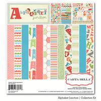 Carta Bella alphabet Junction 12x12 Paper Kit Child Scrapjack's Place