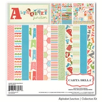 Carta Bella alphabet Junction 12x12 Paper Kit Child Scrapjack's Place