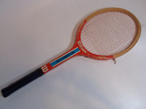 Details About Wooden Tennis Rackets Vintage Racquets Wood Wilson Set Point Jr B