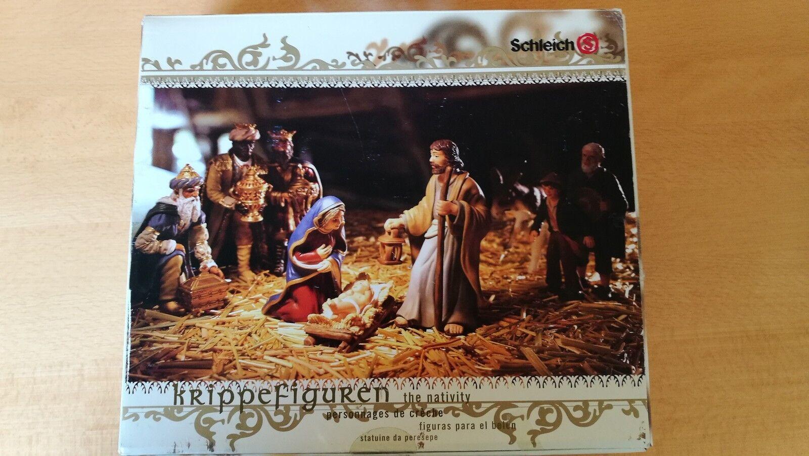 SCHLEICH 30600 Krippenfiguren Krippe Weihnachten 8-teilig OVP Figuren wie Neu
