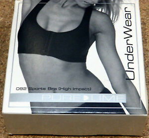 8e7f75f6e6 Pure Lime Support High Impact Sports Bra Gym White Black 34DD 36F ...