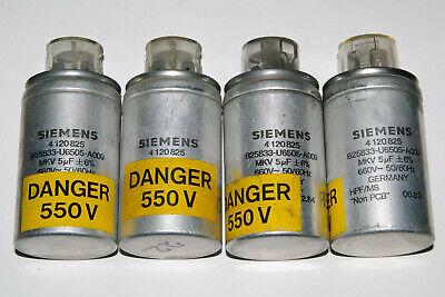 Siemens MKV B25833 Polypropilene in Oil Capacitor 6uF 8uF 10uF660V AC 930V DC