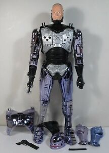 ROBOCOP-HUGE-18-039-039-PLASTIC-POSEABLE-B-O-ACTION-FIGURE-METALLIC-PURPLE-WORKS