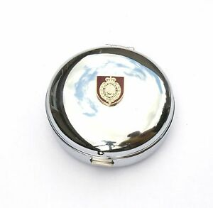 Northumberland Fusiliers Shield Travel Chrome Alarm Clock Ideal Army Gift BK42