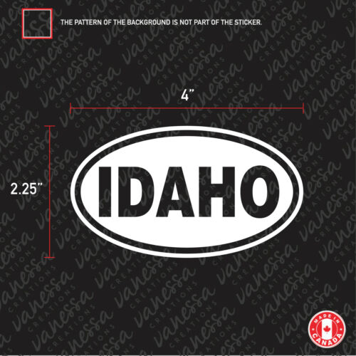 2x IDAHO STATE USA sticker vinyl car decal