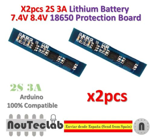 2pcs 2S 3A Li-ion Lithium Battery 7.4v 8.4V 18650 Charger Protection Board
