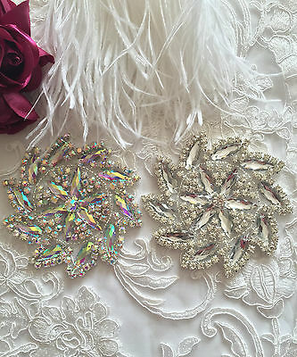Un Livello Di Cristallo Motivo Applique Diamante Ferro Su Toppa In Tessuto Da Sposa-mostra Il Titolo Originale Grandi Varietà