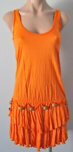 ONE-TEASPOON-Dress-Sz-8-10-Small-Orange-Shift-Tiered
