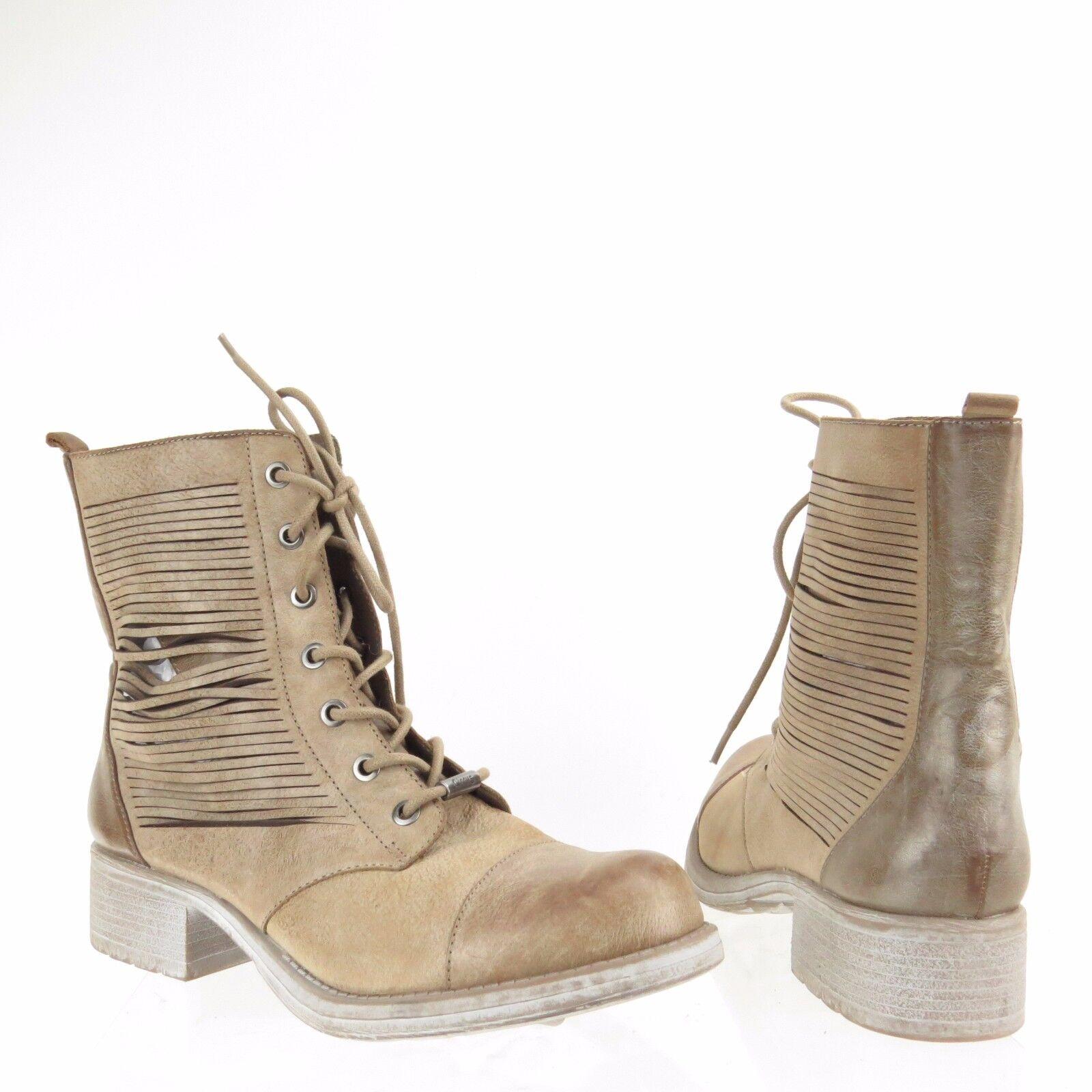 Women's Circus Sam Edelman Gatson shoes Beige Leather Cut Out Boots Sz 9.5 M NEW