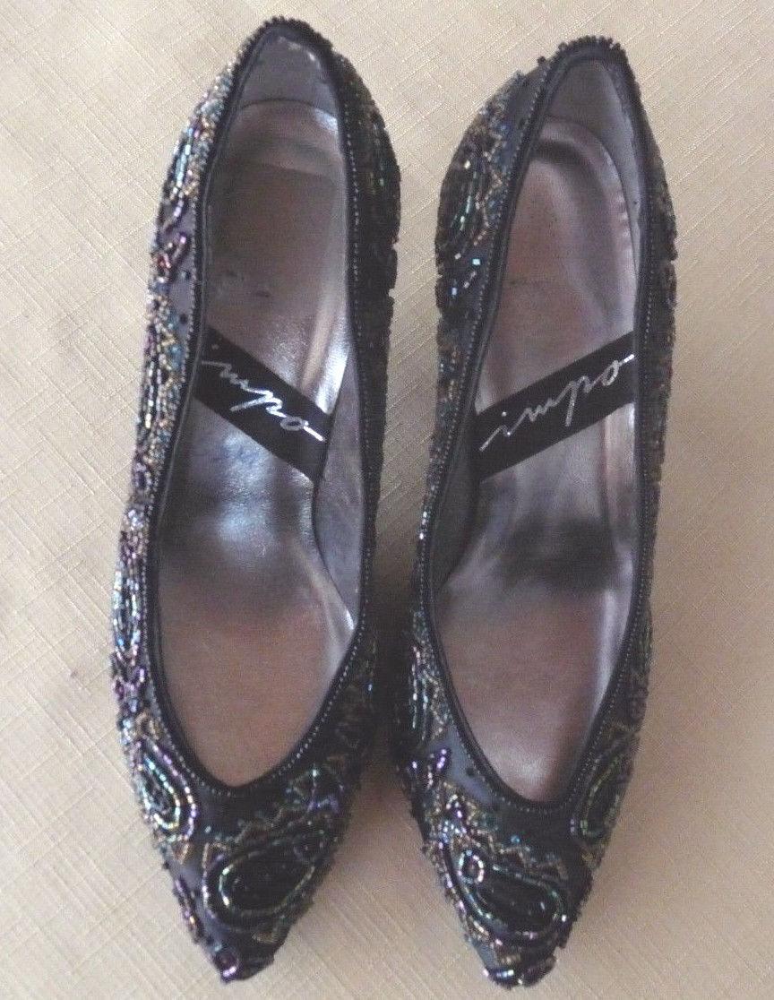 Impo Ladies Satin 6.5 and Bead Evening Shoes 6.5 Satin B 5348d0