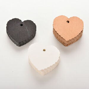 100Pcs-Kraft-Paper-Hang-Tags-Wedding-Party-Favor-Label-Heart-Shaped-Cards-UKCv