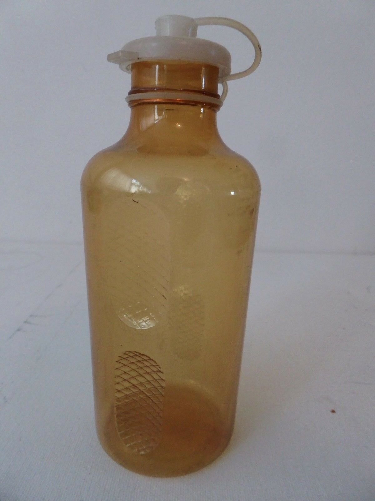 Vintage  80's REG from Torino Atox Water bottle Clear Bronze 4 Vintage Ride