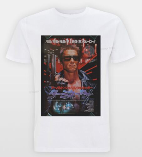 Terminator Movie Poster Tee Vintage Hipster Cult Film Japanese T-shirt Indie Top