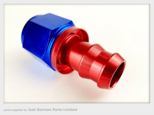Straight Push On Barb Hose End Fast Flow Fuel Fitting JIC AN-6 AN-8 AN-10