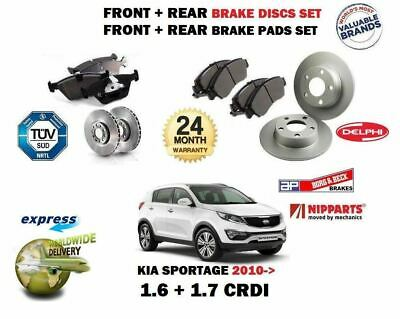 REAR DISCS AND PADS FOR KIA SPORTAGE 1.7 TD 2010 MINTEX FRONT