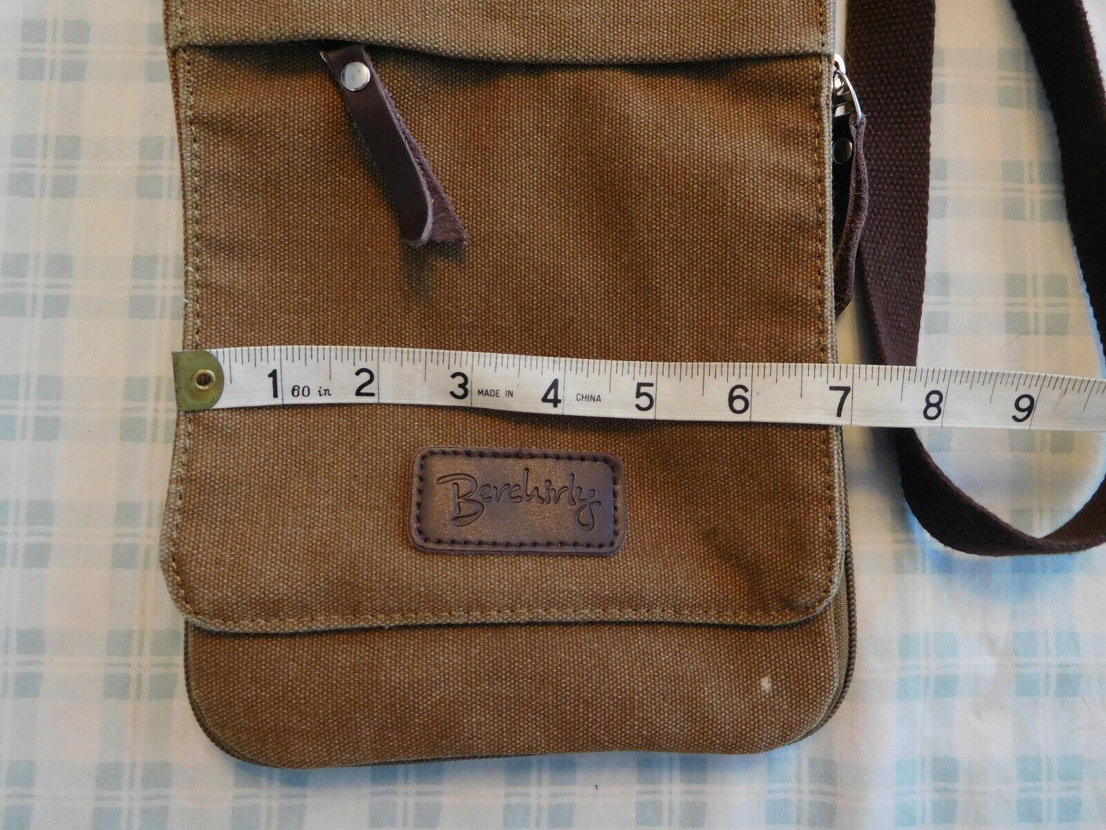Berchirly Brown Tan Canvas Crossbody Shoulder Bag… - image 2