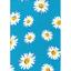Blanco Margarita Flores Floral 100/% poliéster sedoso Tela De Raso
