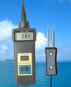 Hay-bale-wood-fiber-tobacco-Moisture-Meter-0-50-thermometer-10-60-two-in-one