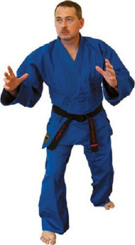 bluee Kimono Jiu Jitsu Judo Uniform Gi Youth & Adult Student Sizes