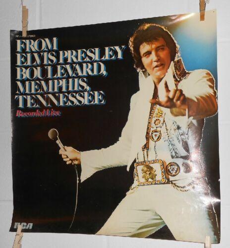 Elvis Presley Boulevard, Memphis Tennessee Vintage Promo Poster 22x22