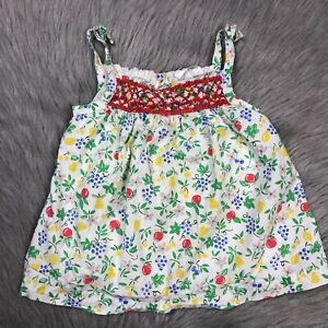 Baby-Boden-Girls-Smocked-Floral-Fruit-Tank-Top-Sz-6-12-Months