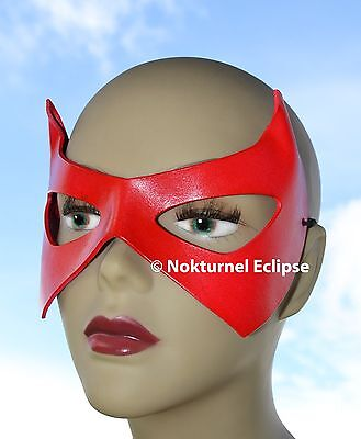 Halloween Robin Batgirl Marvel Leather Costume Mask Batman Geek RED Superhero Odq8pxW7