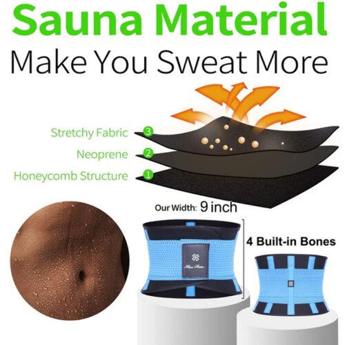 Herren Sweat Sauna Bauchweg gürtel Abnehmen Schwitzgürtel Schlank Shaper Gurt DE