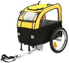 Small Dog Bike Trailer Bicycle Pet Travel Cycle Cargo Carrier 2 Hitch Puppy Cage