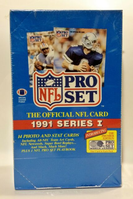 1991 Pro Set series 1 Football card box Factory Sealed contains 36pks