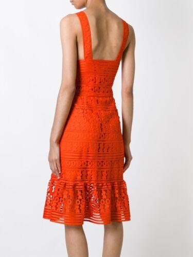 $598 NEW Diane von Furstenberg DVF Tiana Sleeveless Lace Dress Orange 6 10 12 14