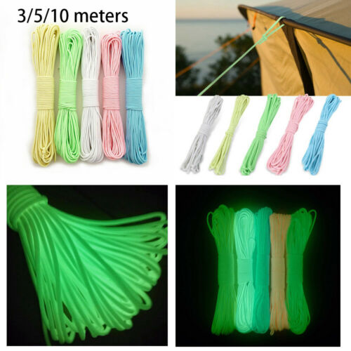 Cords Luminous Rope Survival Paracord Camp Glow Paracords Lanyard Ropes