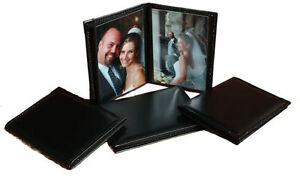 "Black Wallet Oxford Bound Photo Album SM23/NB Holds 24 2.5x3.5"" Wallet Photos"