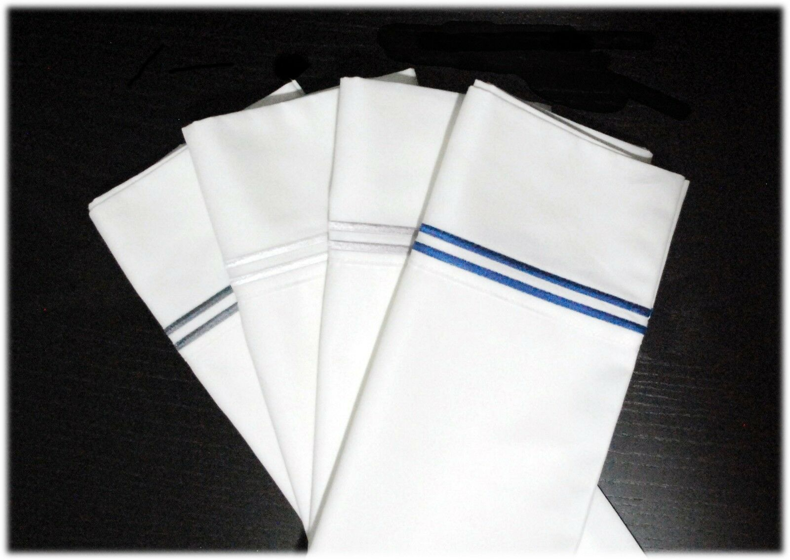 1000 Thread Count 2 Stripe Embroidery Cotton Rich Sheet Set