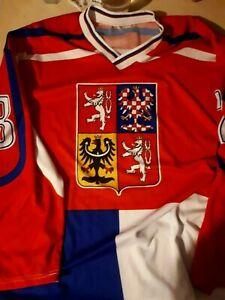 Eishockey-Trikot-Tschechien-Hejduk-Nummer-23-XXL-gebraucht