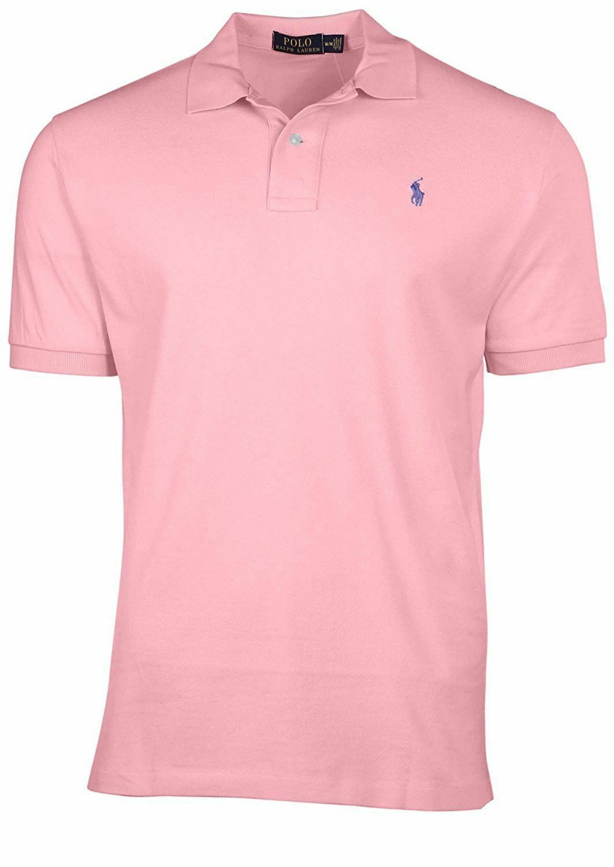 Men's Polo Ralph Lauren CLASSIC Fit Mesh PONY Shirt Short Sleeve Carmel Pink S M