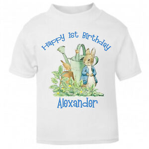 Printed with Your OWN Message Peter Rabbit In The Garden Unisex T Shirt