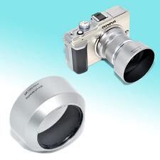 Silver LH-40B Lens Hood for Olympus M.Zuiko Digital MZD ED 45mm f/1.8 46mm M43