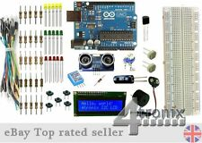 Genuino Arduino UNO LCD LM35 DHT11 Humidity Sensor Ultrasonic Data Logger Kit