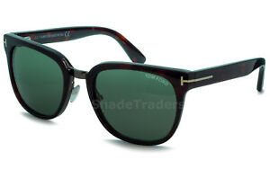 8cbe18ed7d TOM FORD ROCK SUNGLASSES SHINY DARK RED HAVANA TORTE GREY GREEN FT ...