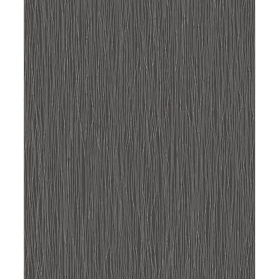 RASCH TEXTURED BLACK SILVER GLITTER LINES QUALITY DESIGNER WALLPAPER 599787
