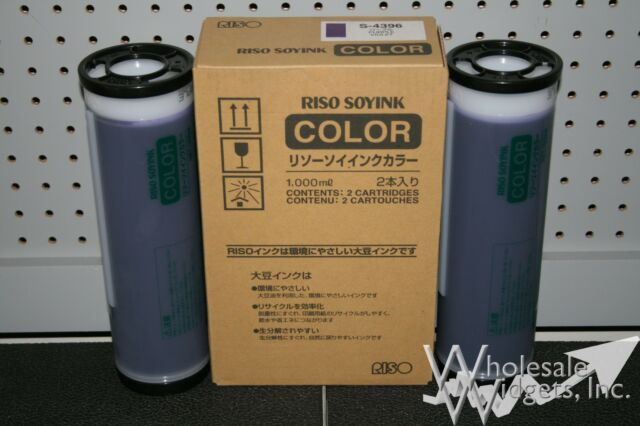 2 Genuine Riso S-4396 Purple Ink Risograph GR RC RA FR RP RN RP3700 GR3750 S4396