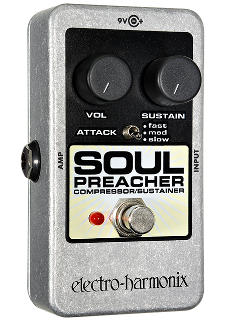 EHX Electro-Harmonix Soul Preacher Compressor Sustainer Guitar Effects Pedal