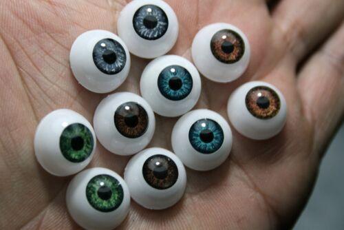 Ojos  muñeca acrílicos 10 mm marrón  reborn bjd ooak acrílicos manualidades
