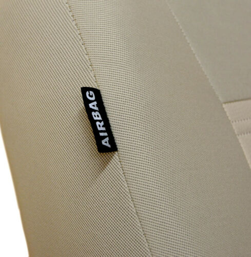 beige leatherette Eco leather CAR SEAT COVERS full set fit Volkswagen Jetta