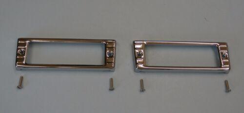 47 48 49 50 51 52 53 Chevy Parklight  Chrome bezel pair